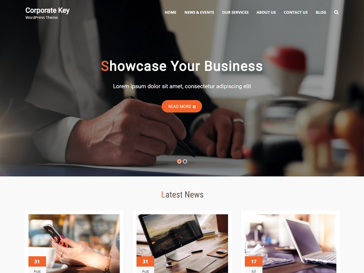 Corporate Key Download Free WordPress Theme
