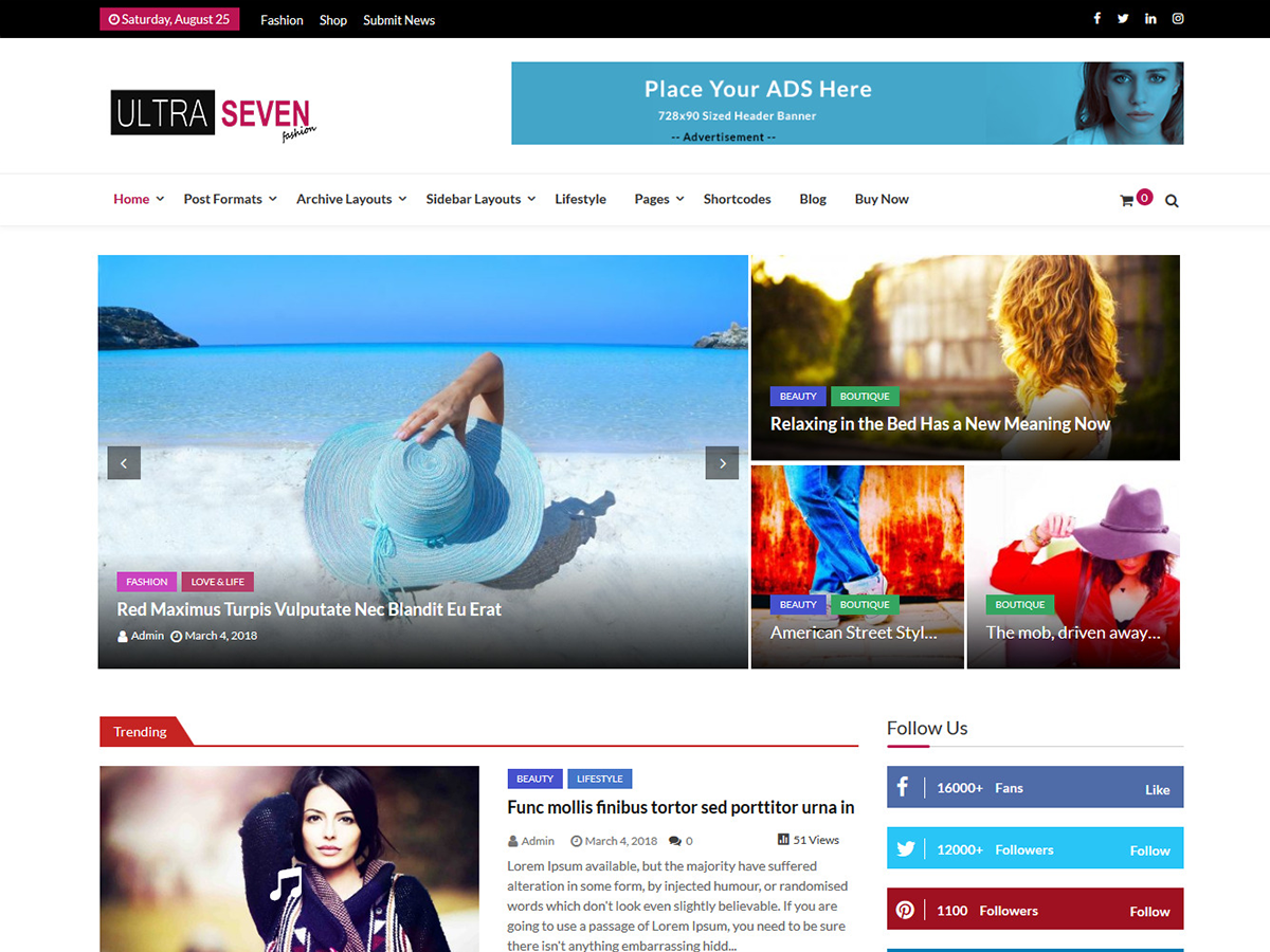 Ultra Seven Download Free Wordpress Theme 5