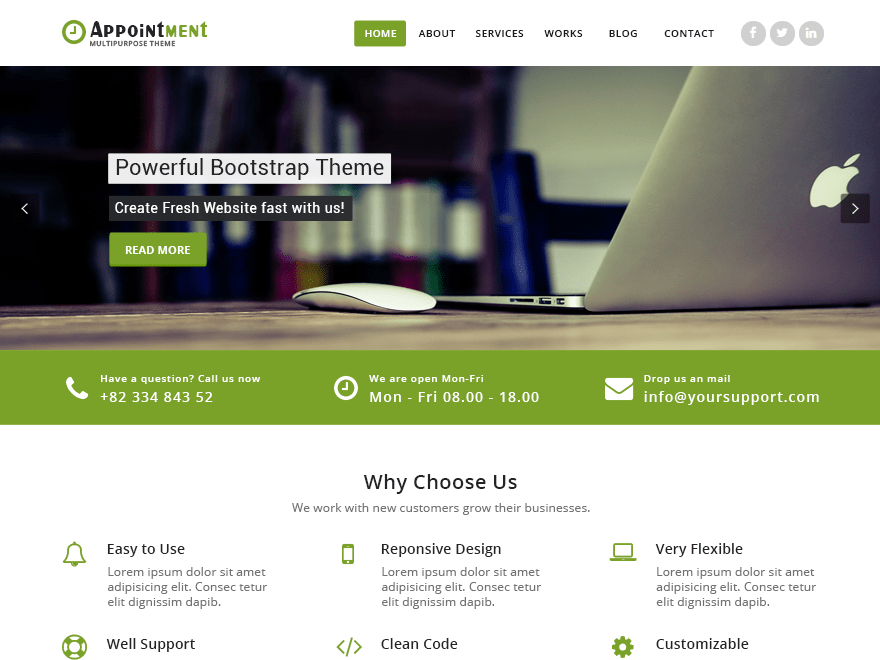 Appointment Green Download Free Wordpress Theme 2