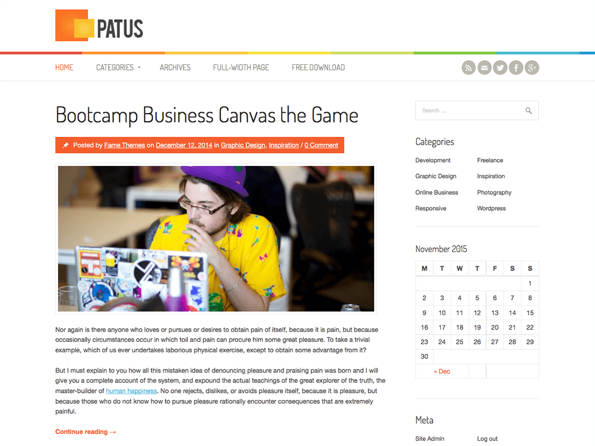 Patus Download Free Wordpress Theme 3