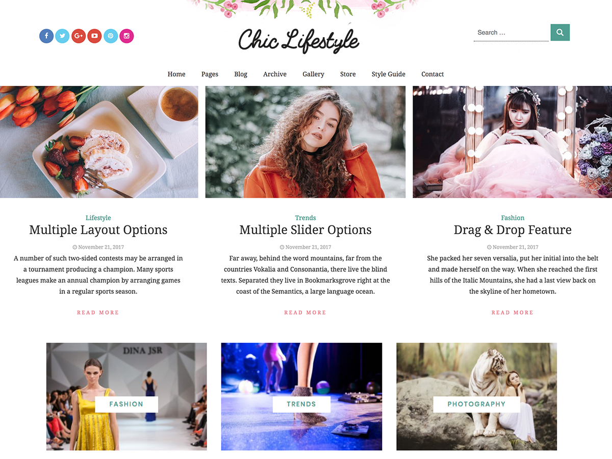 Chic Lifestyle Download Free Wordpress Theme 1