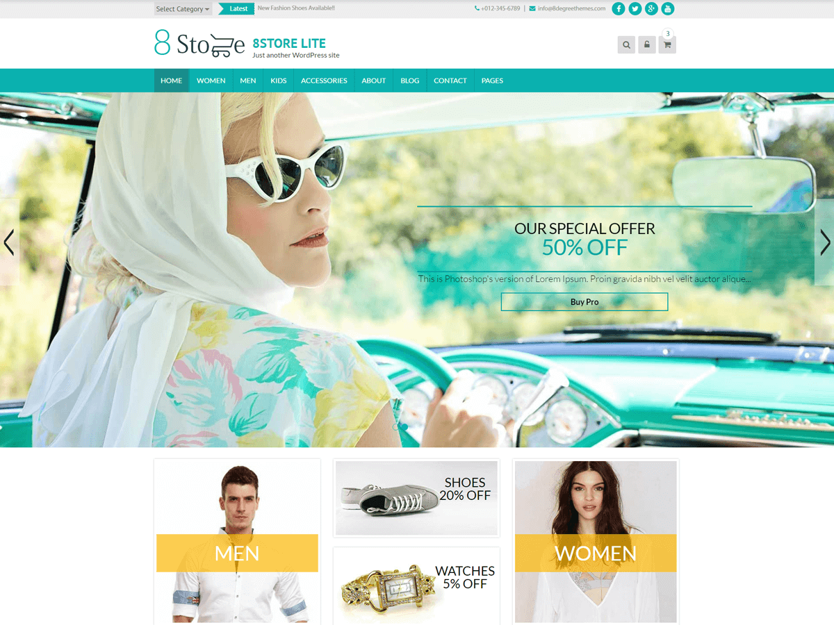 EightStore Lite Download Free Wordpress Theme 4