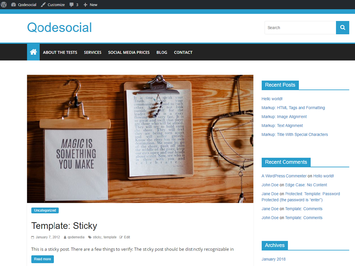 Qodesocial Download Free Wordpress Theme 2