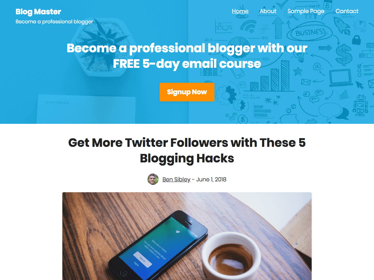 Challenger Download Free Wordpress Theme 4
