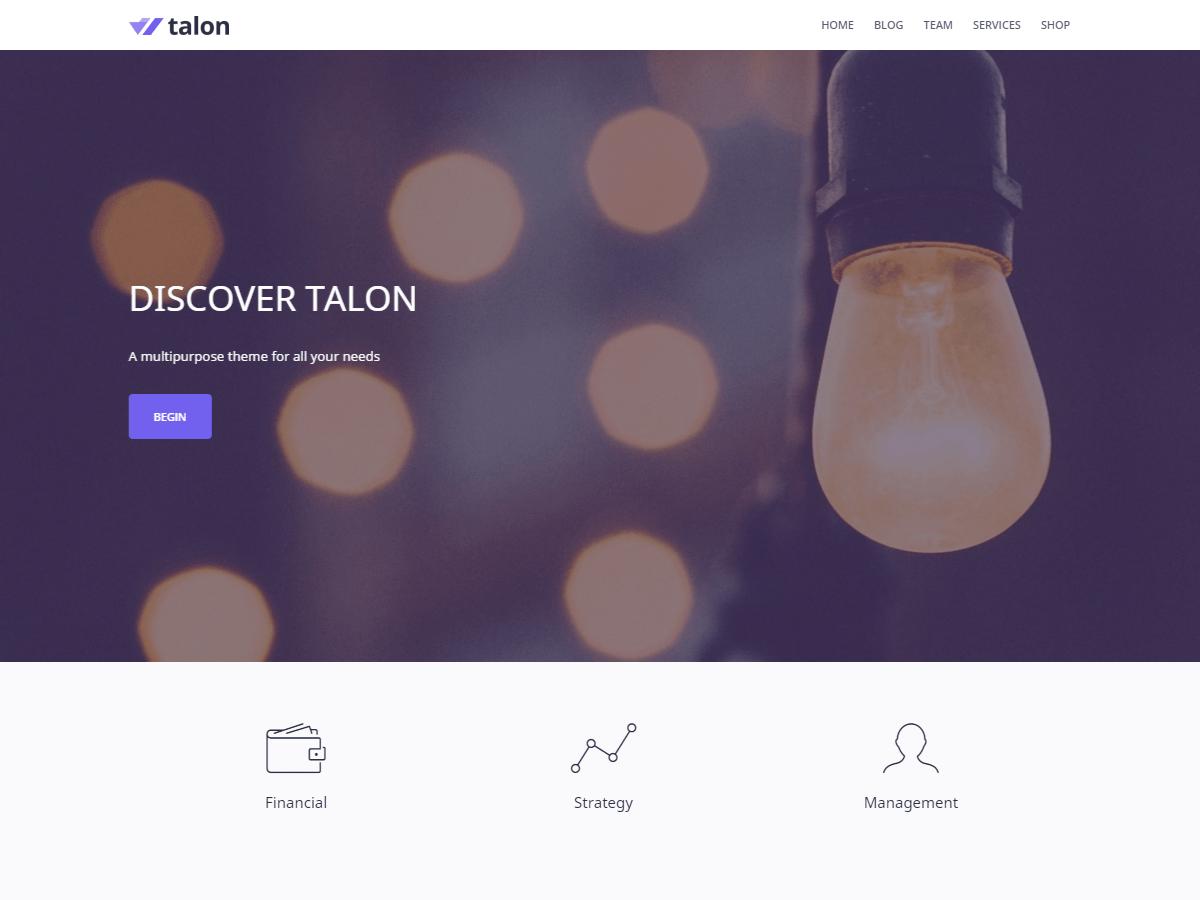 Talon Download Free Wordpress Theme 2