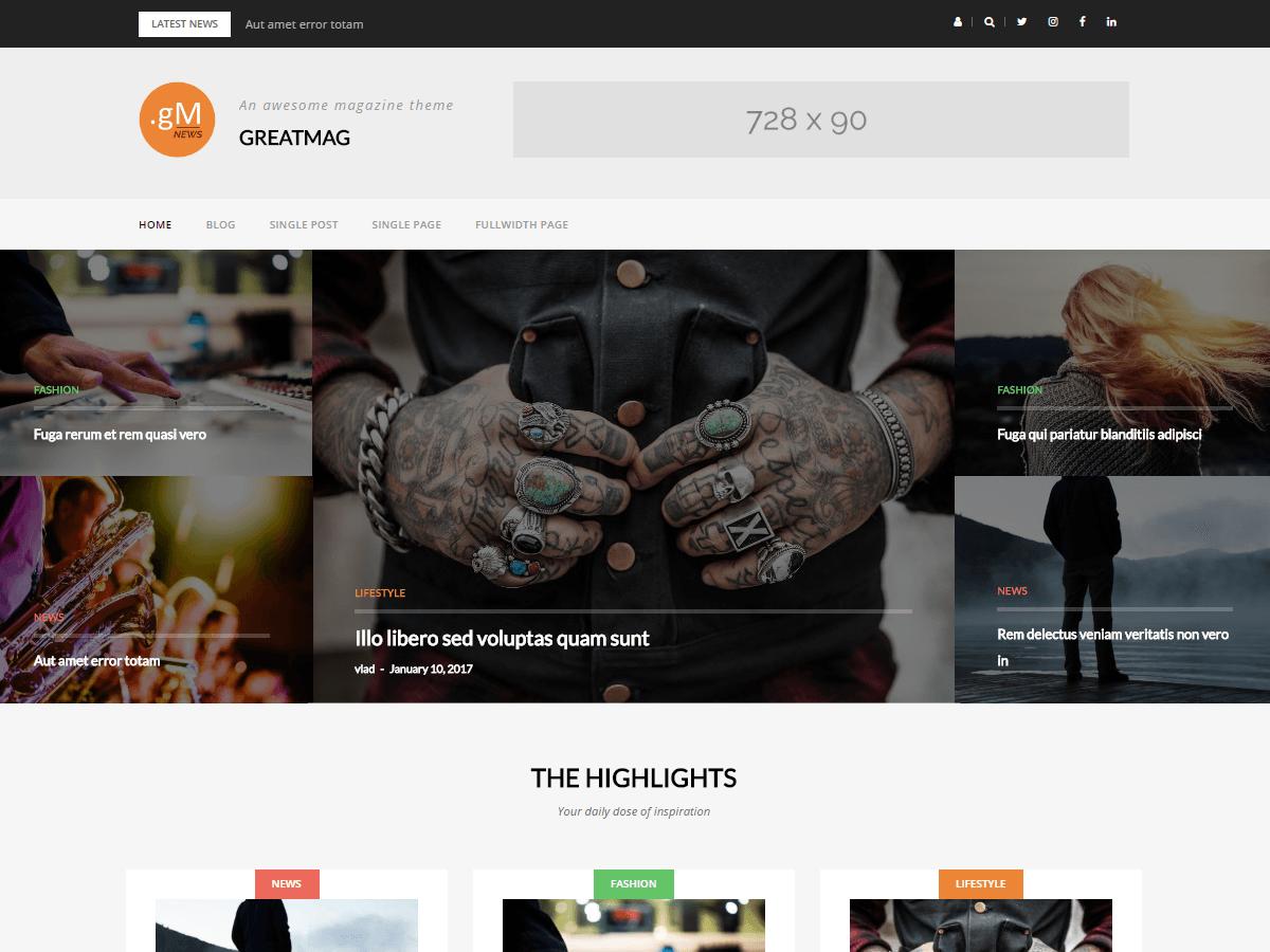 GreatMag Download Free Wordpress Theme 1