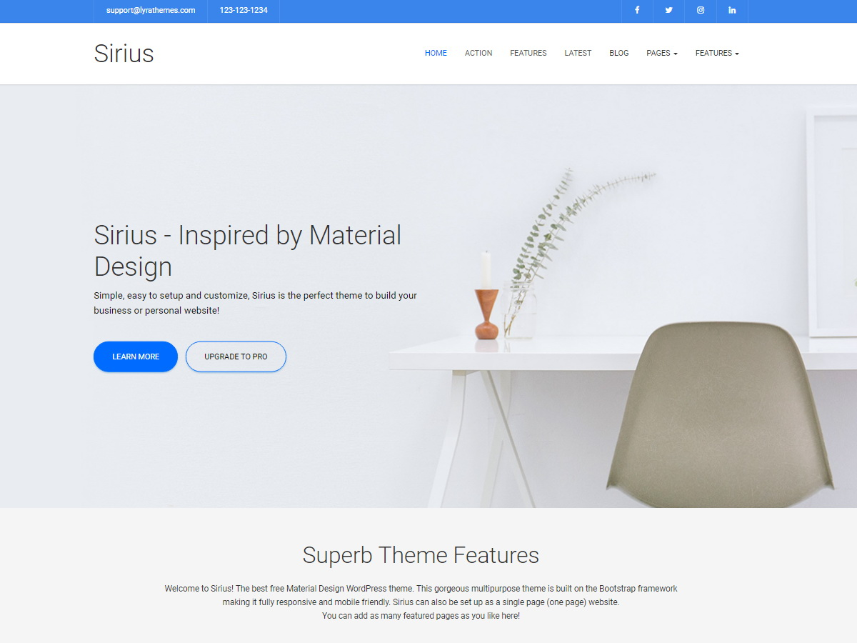 Sirius Lite Download Free Wordpress Theme 4
