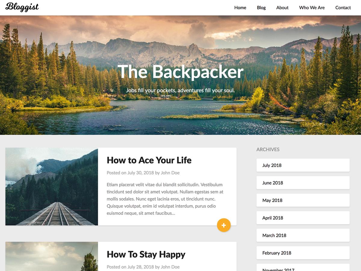 Bloggist Download Free Wordpress Theme 2