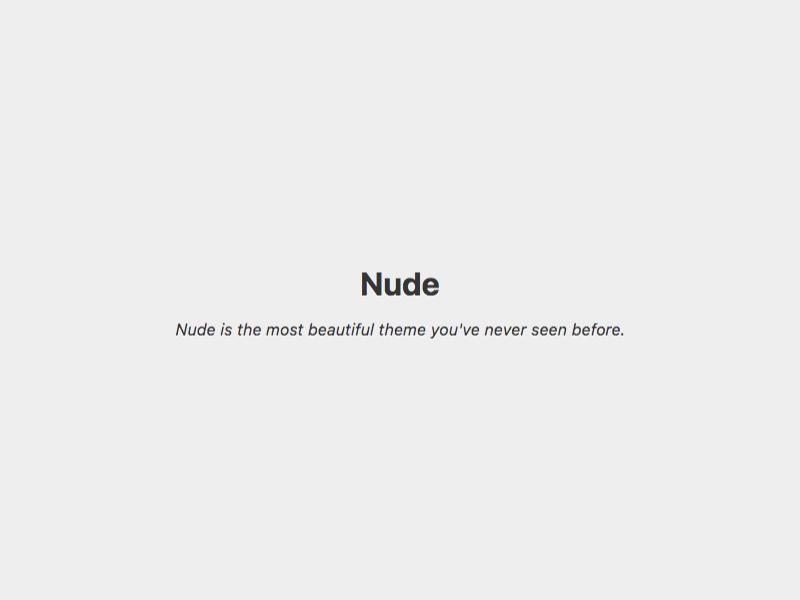 Nude Download Free Wordpress Theme 2