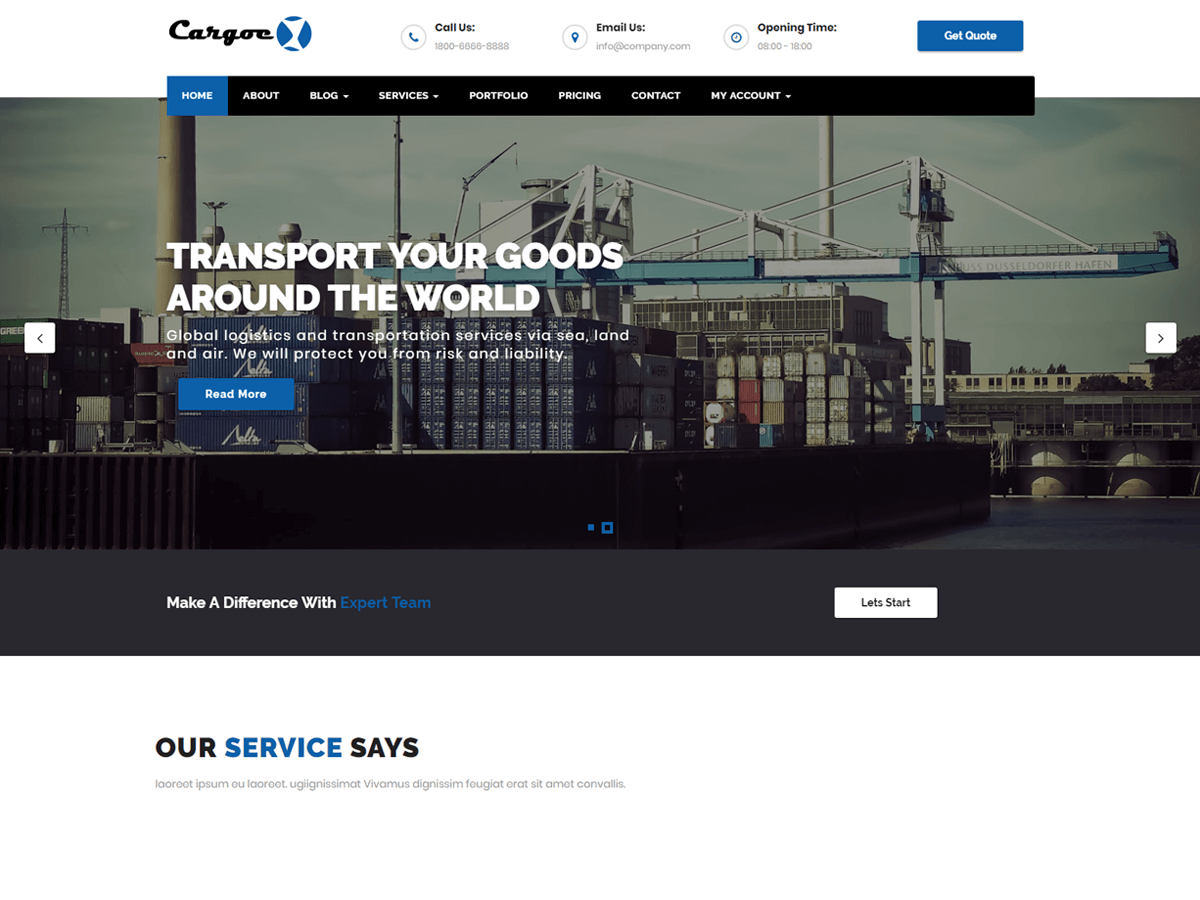 Cargoex Download Free Wordpress Theme 1