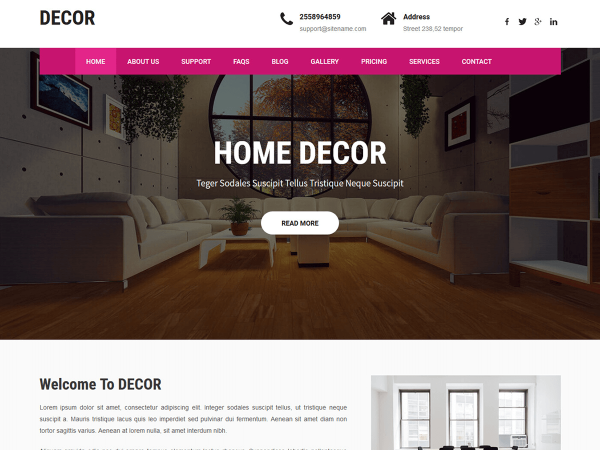 Decor Lite Download Free Wordpress Theme 3