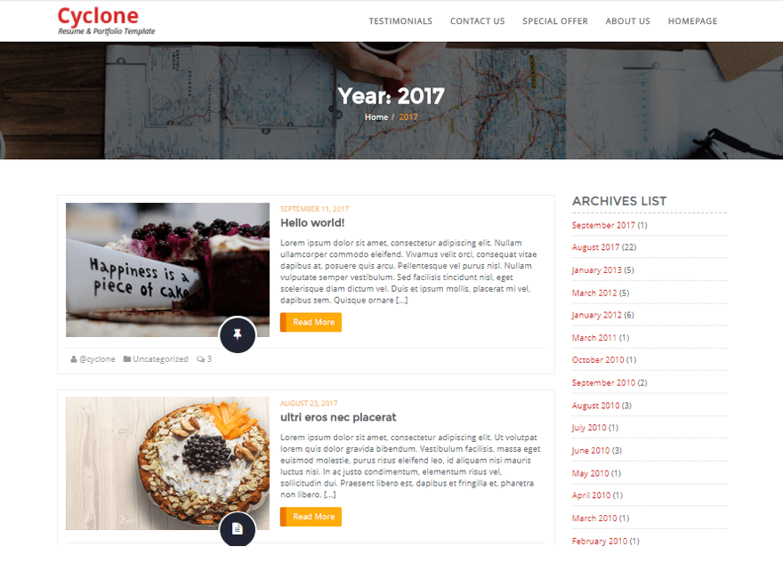 Cyclone Blog Download Free Wordpress Theme 2