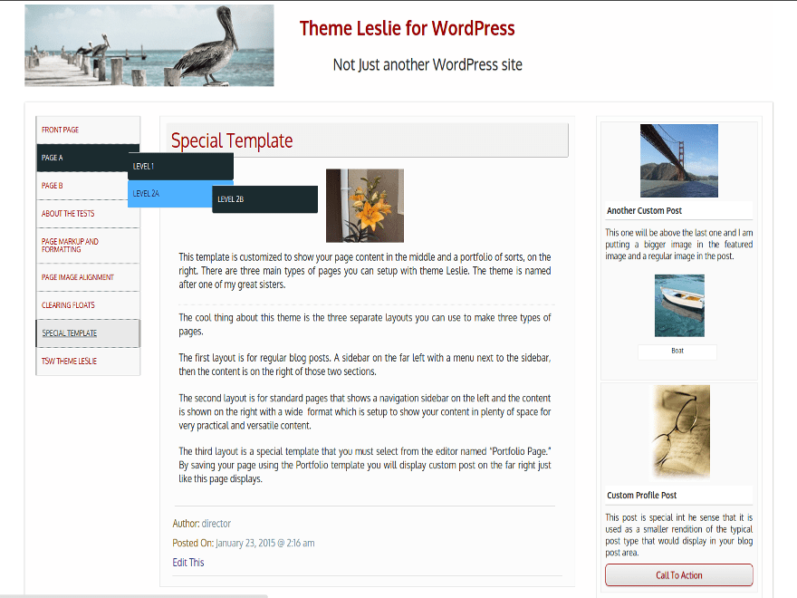 Leslie Download Free Wordpress Theme 5
