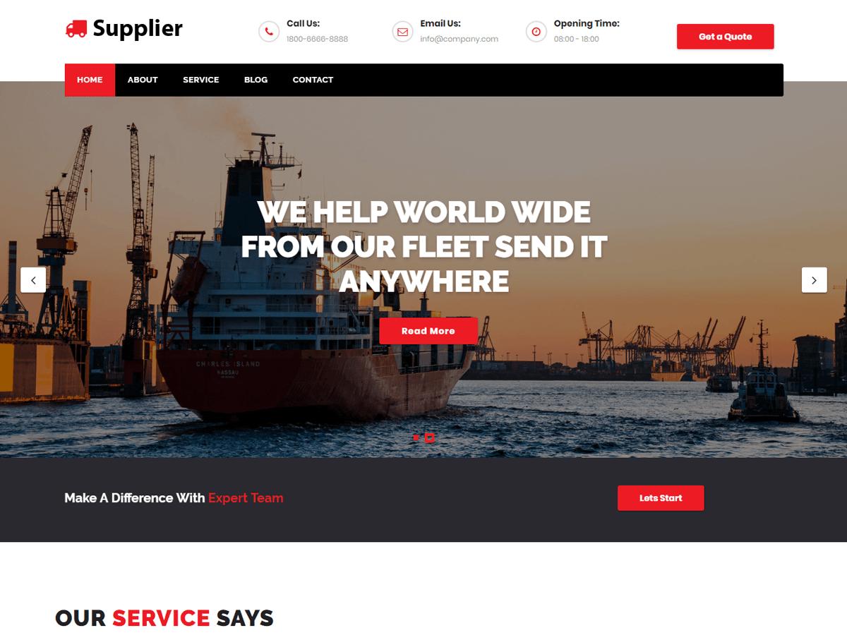 Supplier Download Free Wordpress Theme 2