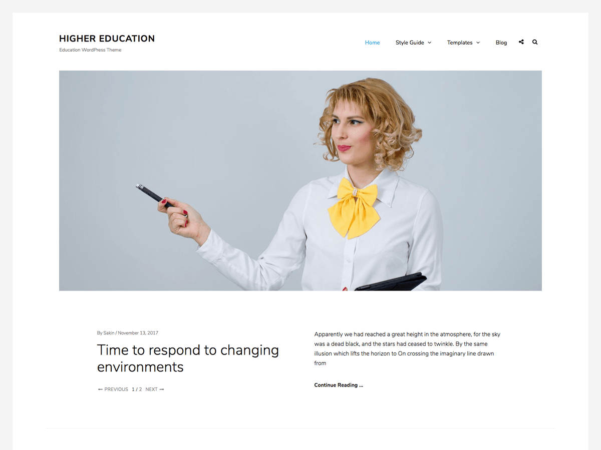 Higher Education Download Free Wordpress Theme 1
