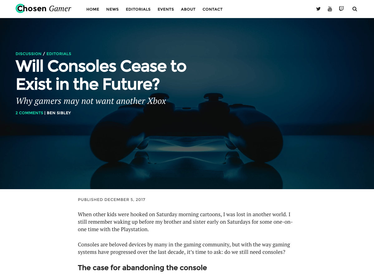 Chosen Gamer Download Free Wordpress Theme 1