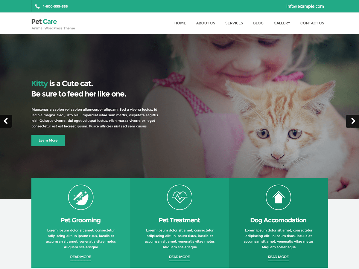 Petcare Lite Download Free Wordpress Theme 2