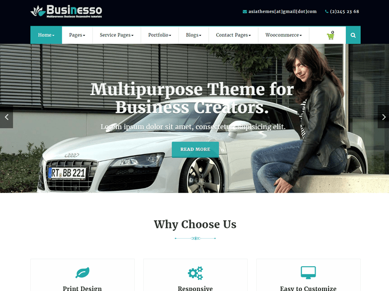 Abubize Business Download Free Wordpress Theme 4