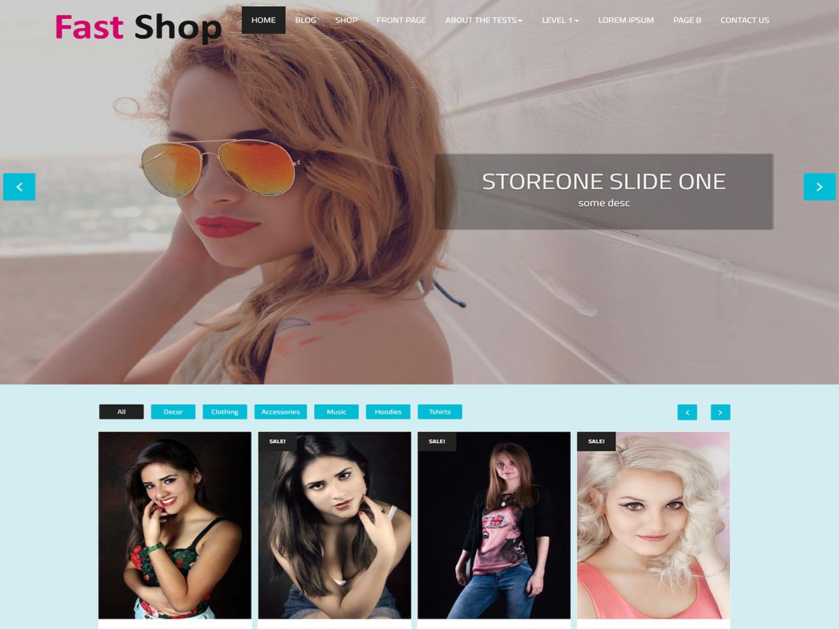 Fast Shop Download Free Wordpress Theme 1