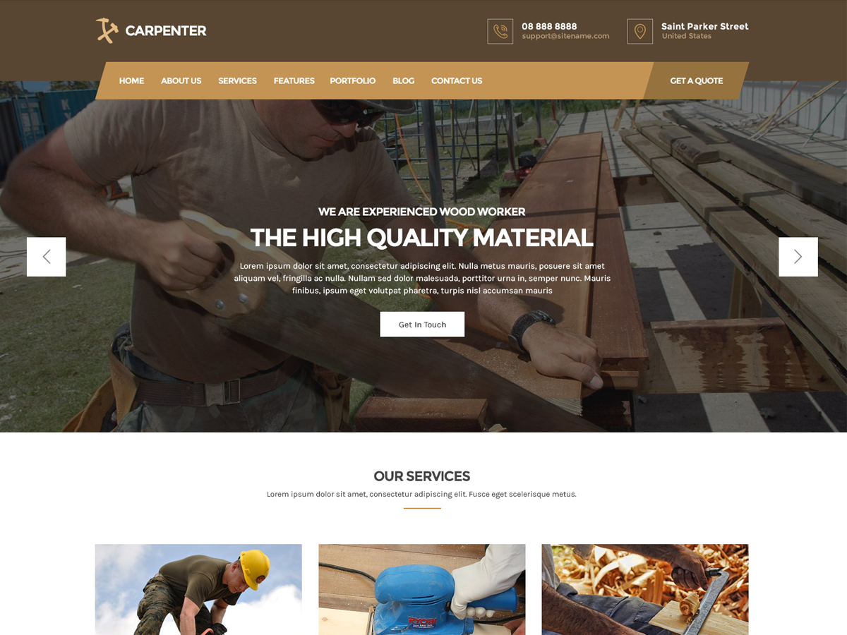 Carpenter Lite Download Free Wordpress Theme 5