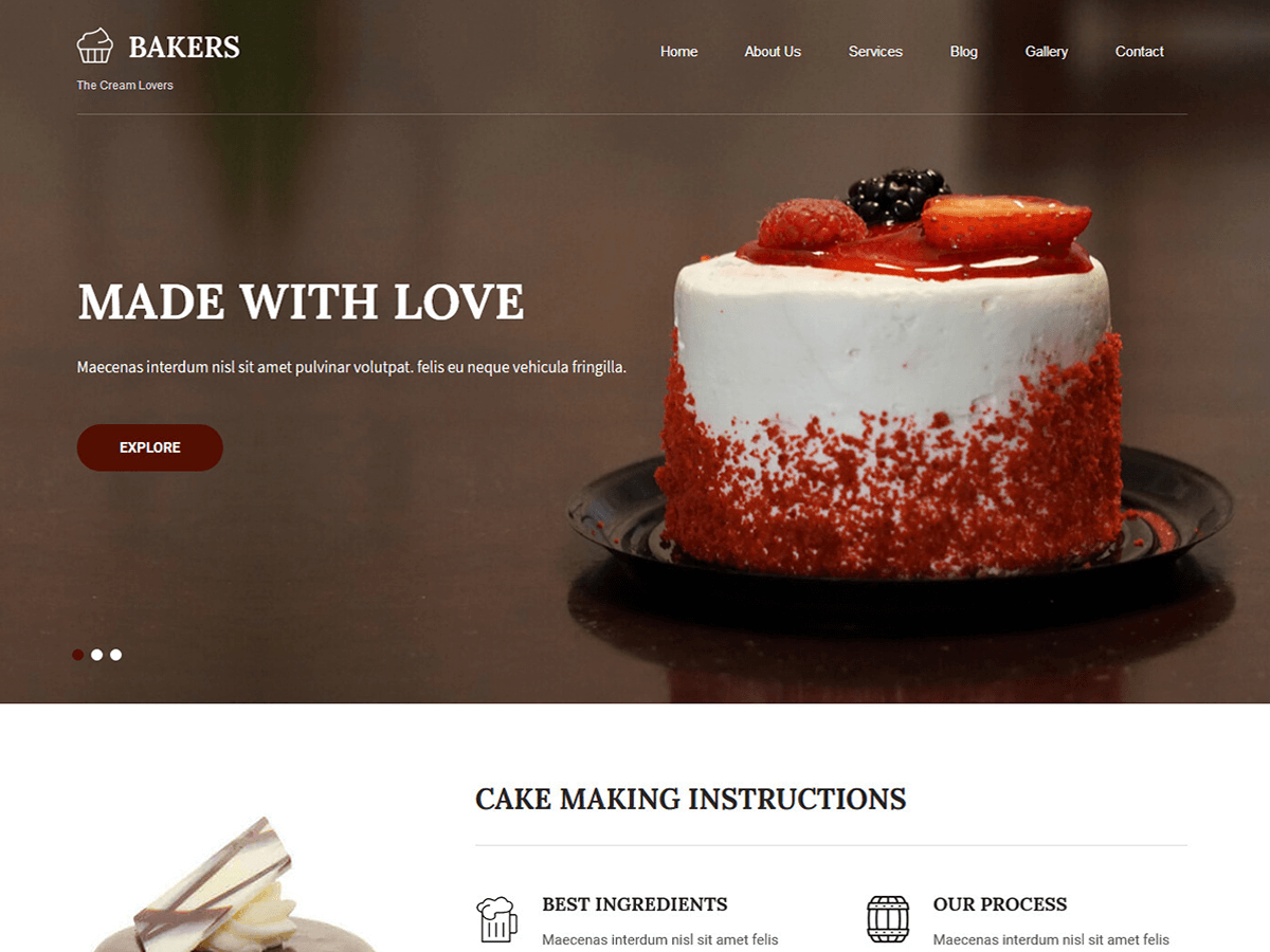 Bakers Lite Download Free Wordpress Theme 1