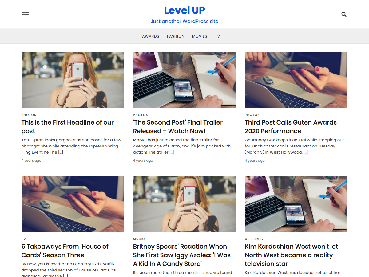 Level UP Download Free Wordpress Theme 1
