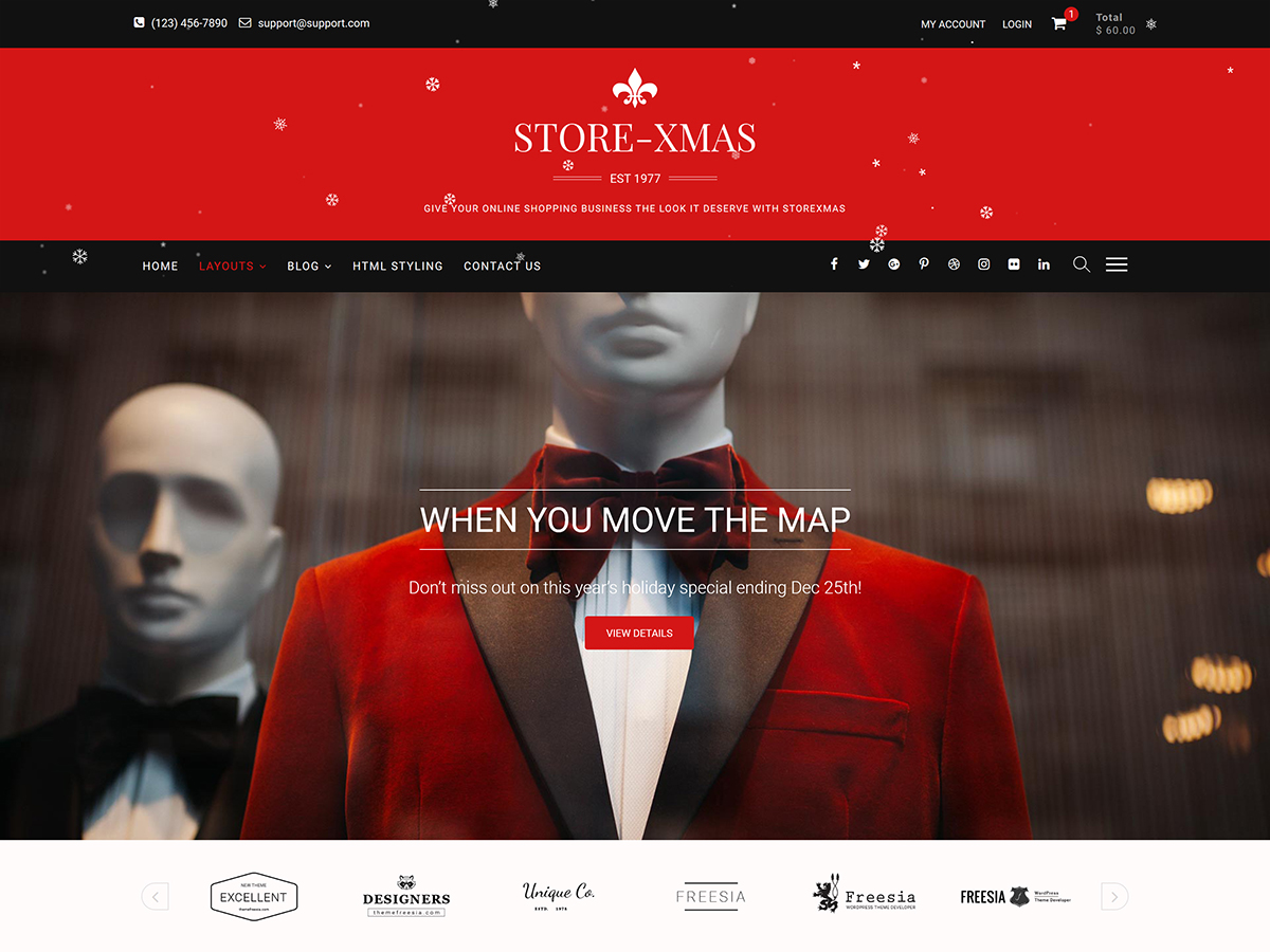 StoreXmas Download Free Wordpress Theme 3