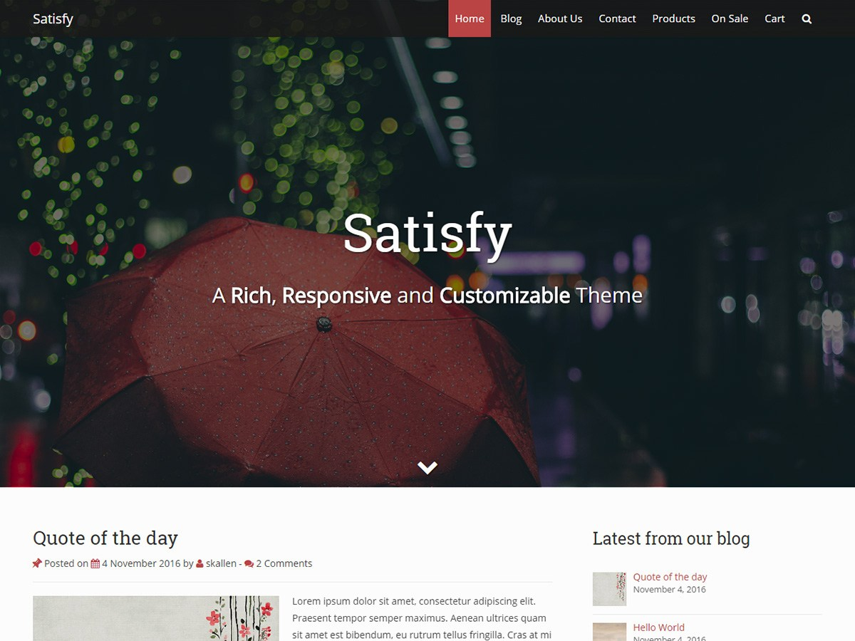 Satisfy Download Free Wordpress Theme 4