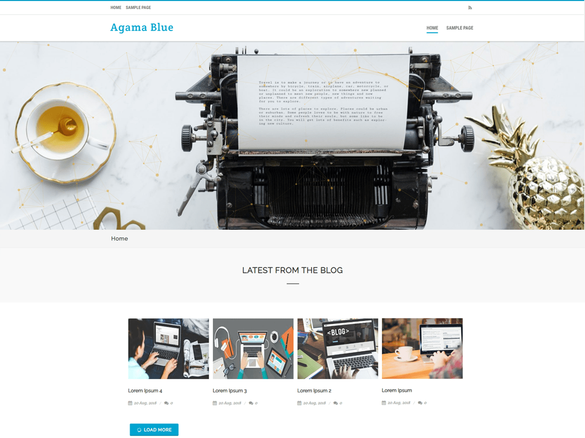 Agama Blue Download Free Wordpress Theme 2