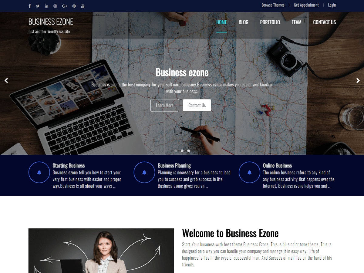 Business Ezone Download Free Wordpress Theme 2
