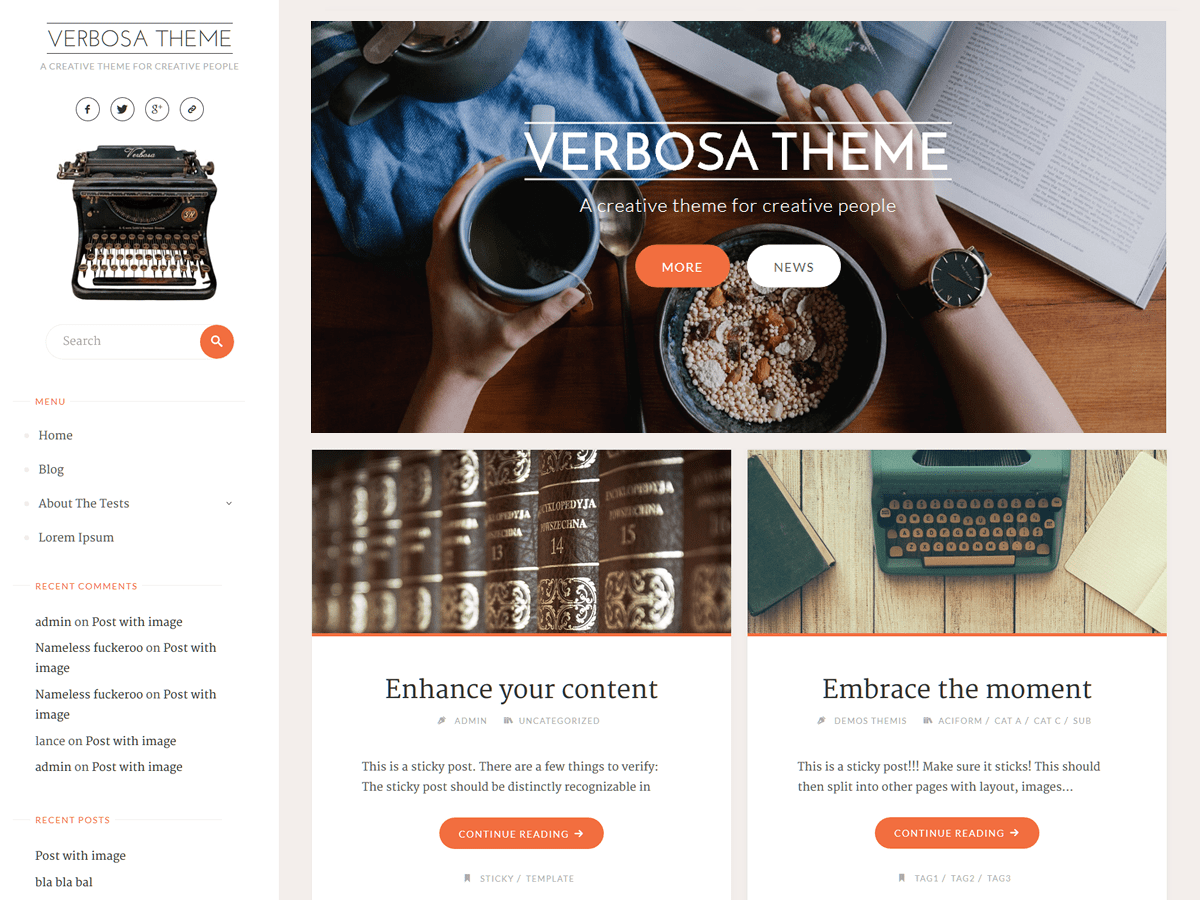 Verbosa Download Free Wordpress Theme 1