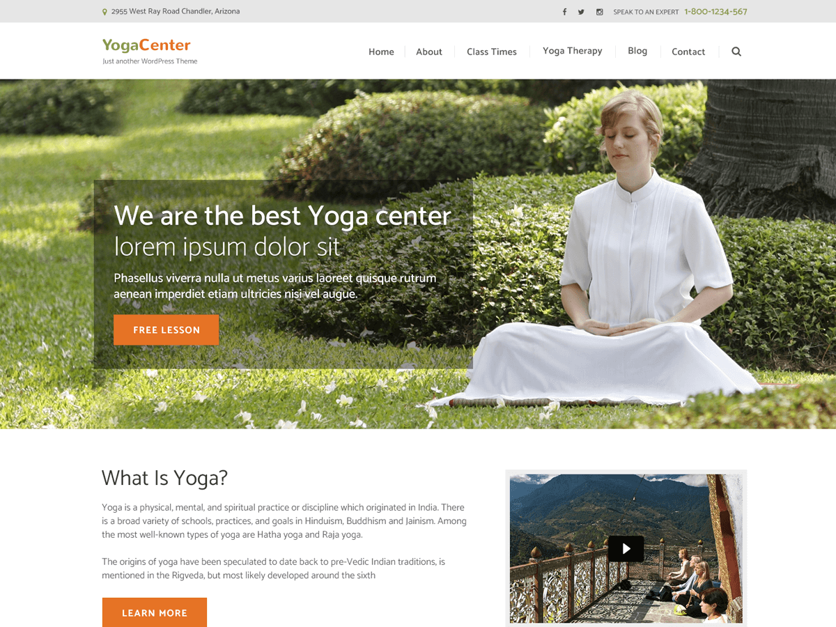 Pranayama Yoga Download Free Wordpress Theme 5