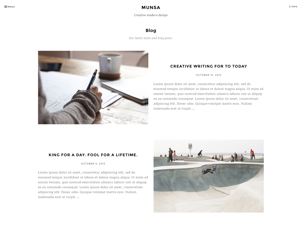 Munsa Lite Download Free Wordpress Theme 4