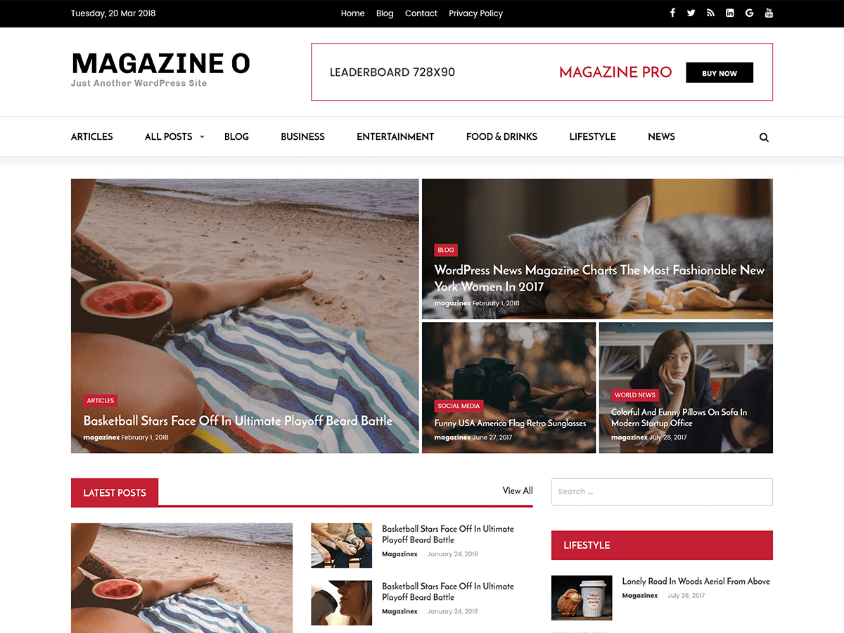 Magazine O Download Free Wordpress Theme 1