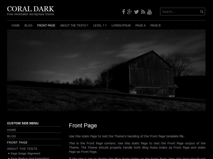Coral Dark Download Free Wordpress Theme 3