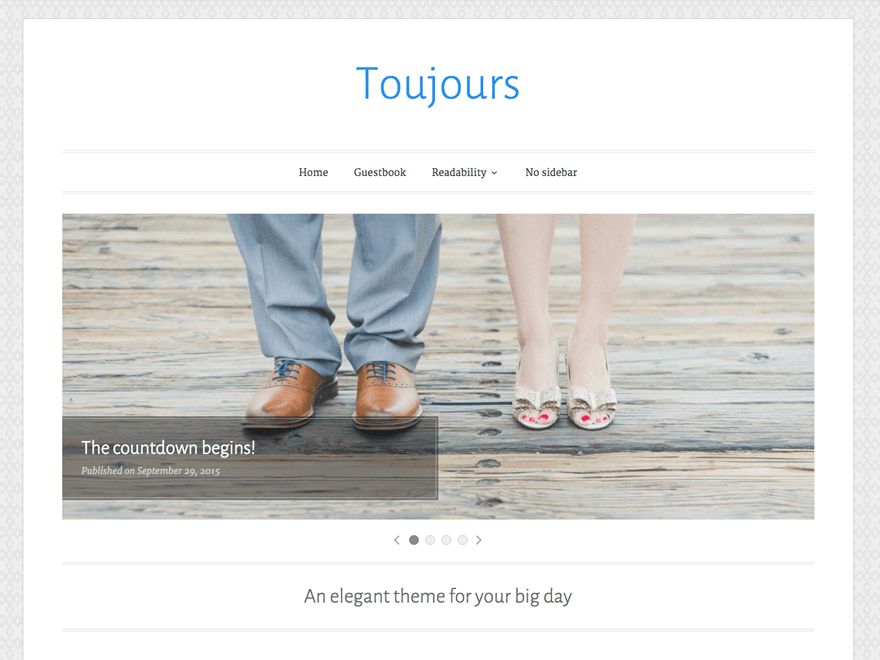 Toujours Download Free Wordpress Theme 2