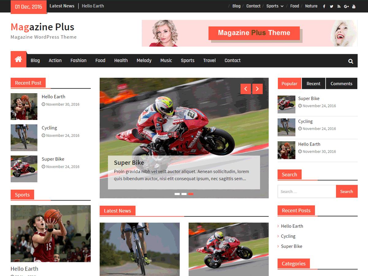 Magazine Plus Download Free Wordpress Theme 1