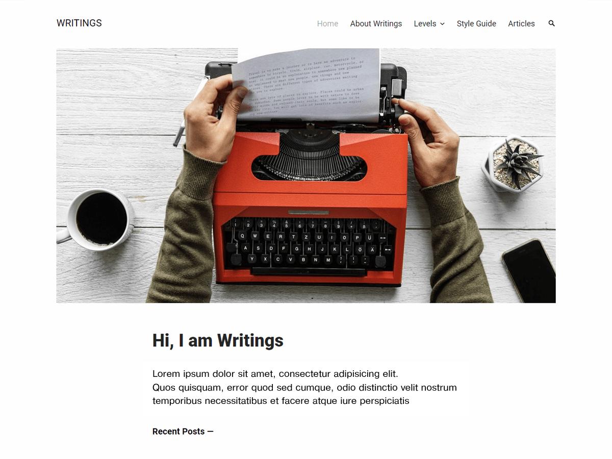 Writings Download Free Wordpress Theme 5