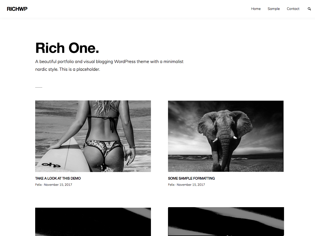 RichOne Download Free Wordpress Theme 2