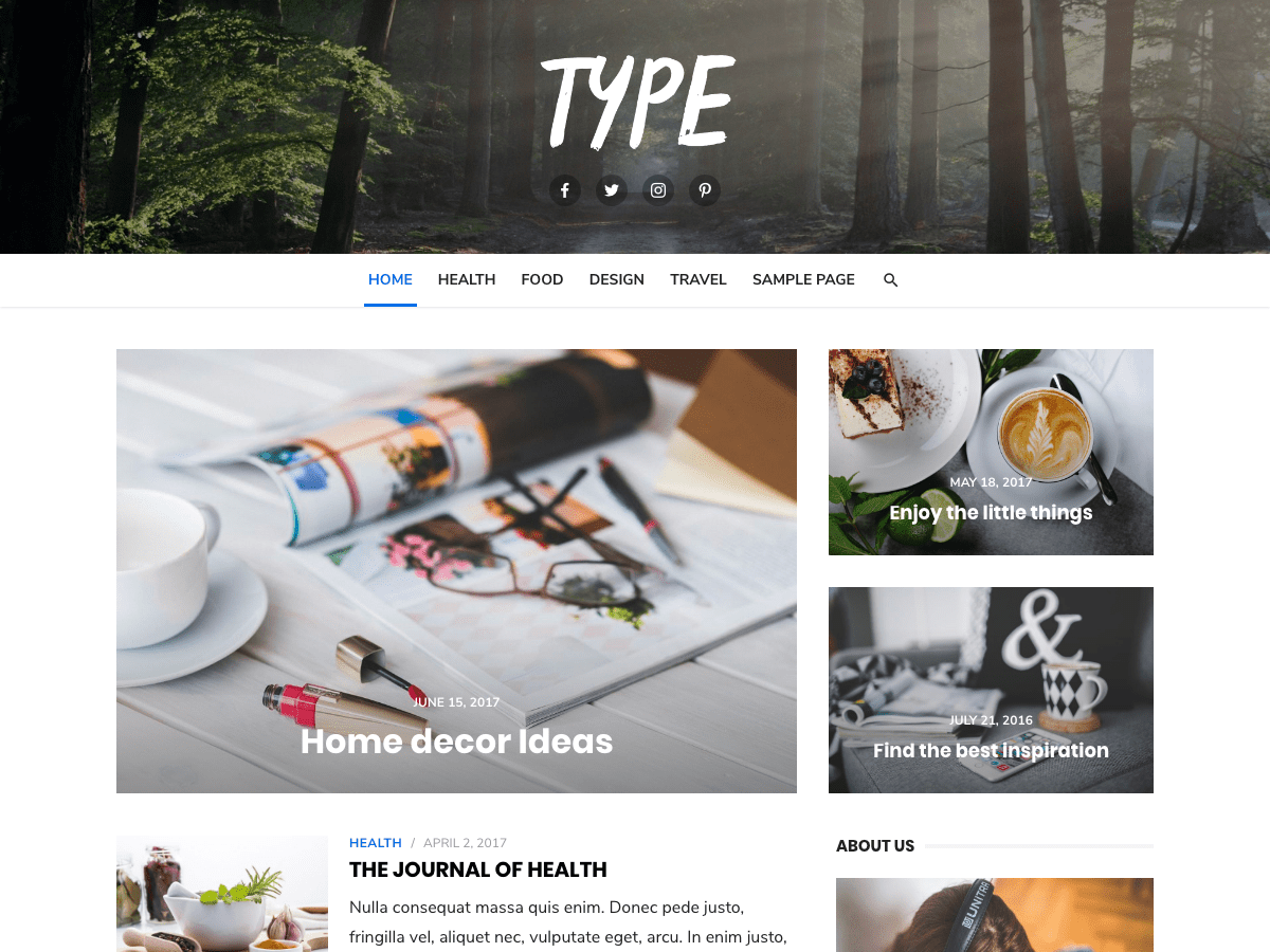 Type Download Free Wordpress Theme 2