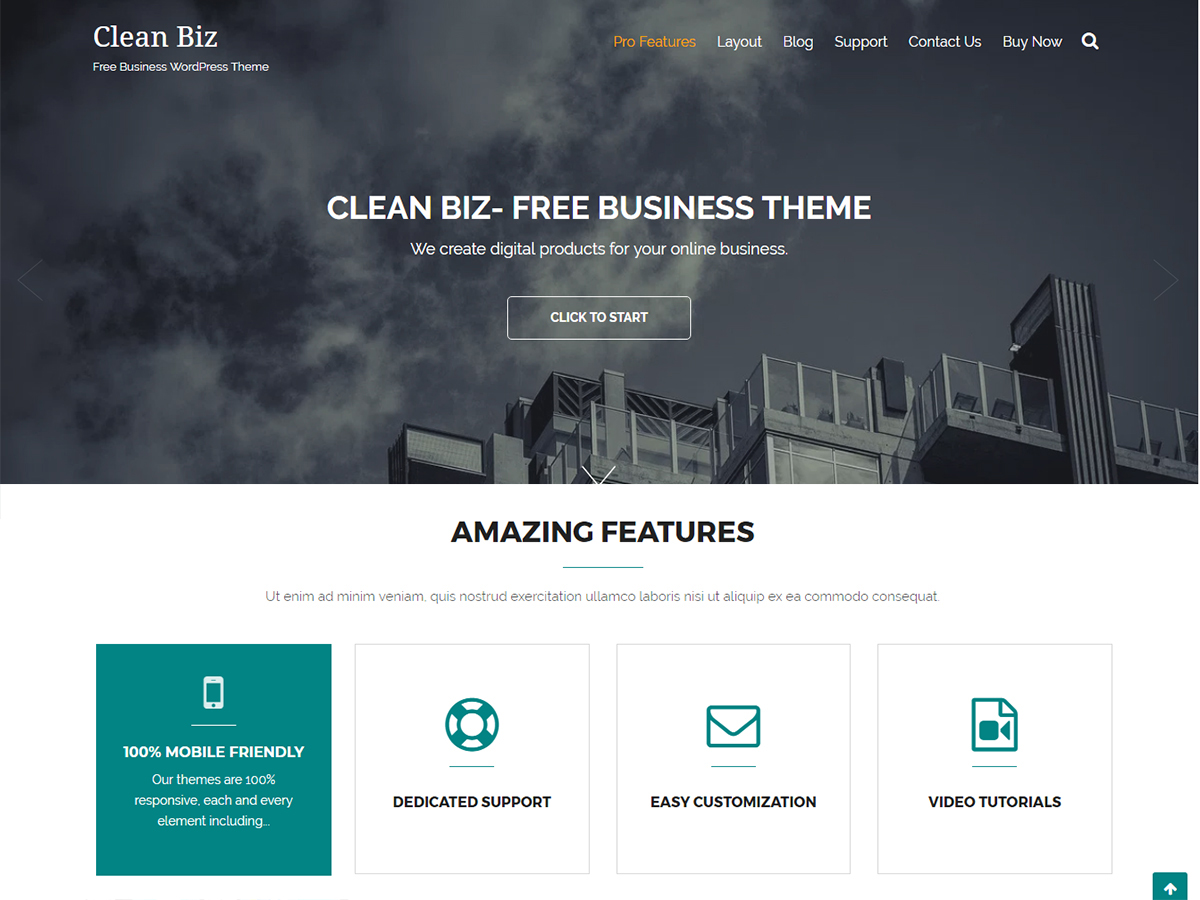 Clean Biz Download Free Wordpress Theme 5