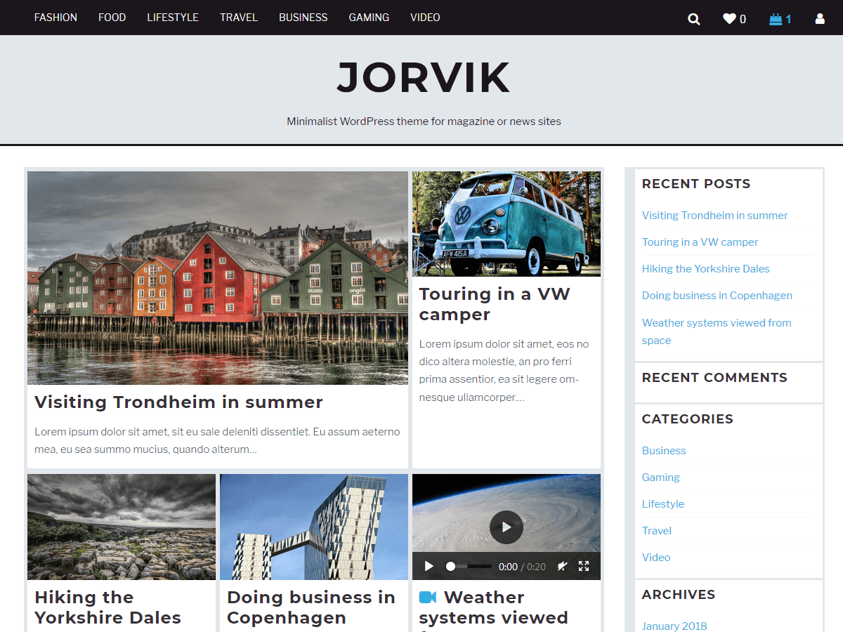 Jorvik Download Free Wordpress Theme 2