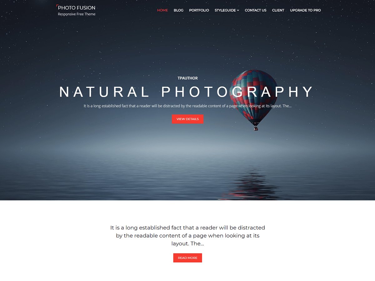 Photo Fusion Download Free Wordpress Theme 4