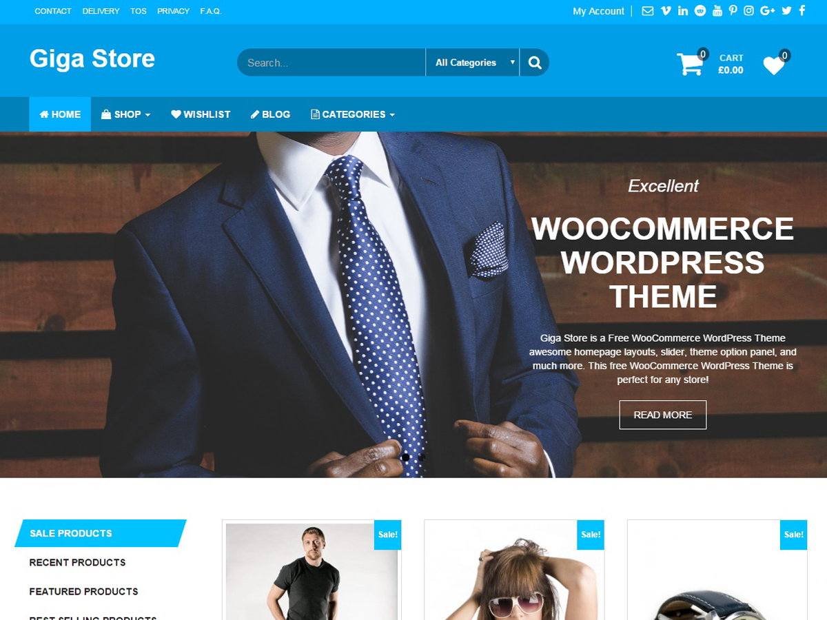 Giga Store Download Free Wordpress Theme 2