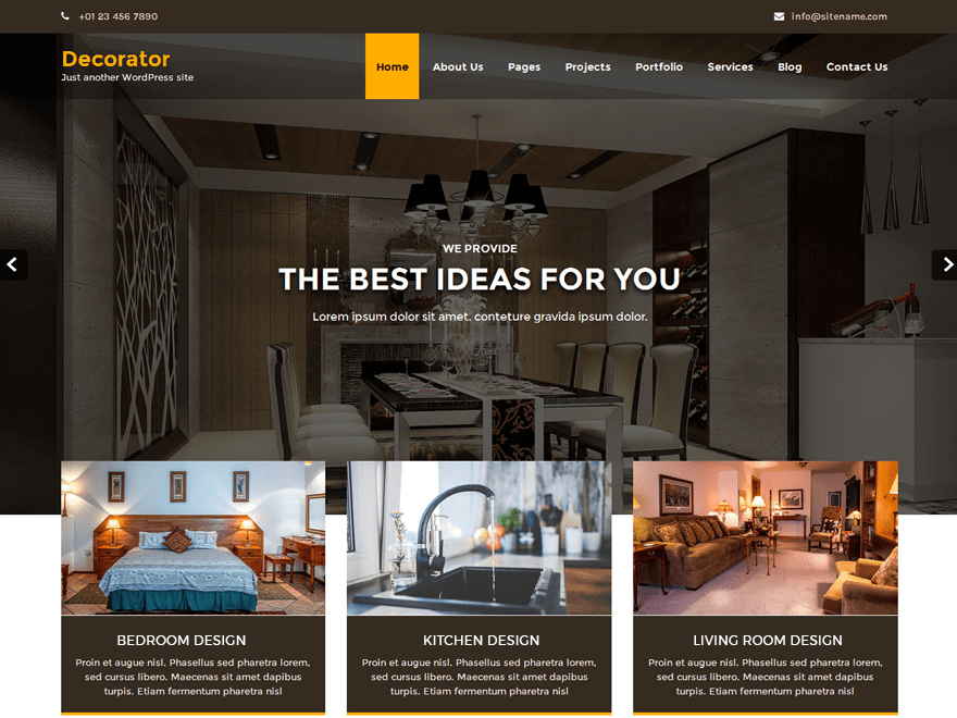 Decorator Download Free Wordpress Theme 1
