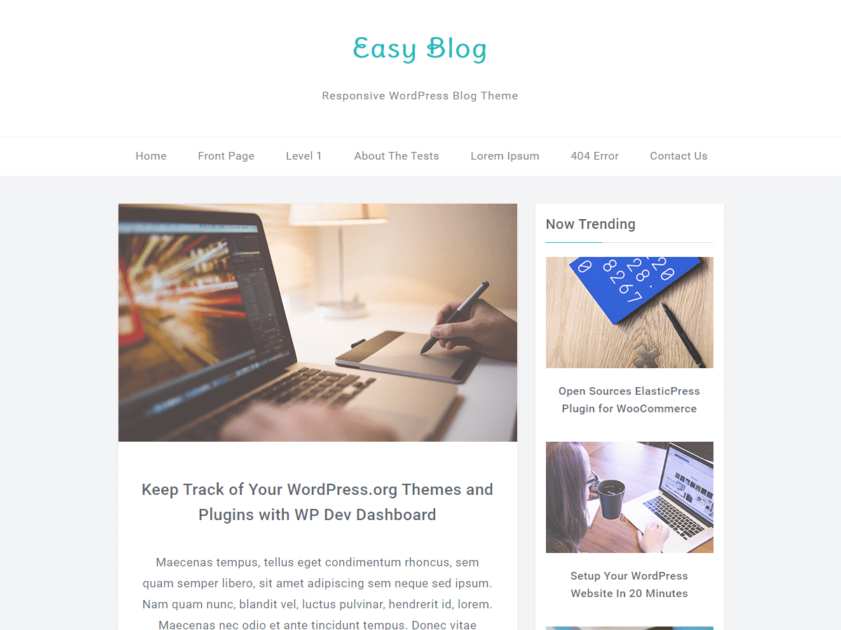 EasyBlog Download Free Wordpress Theme 2