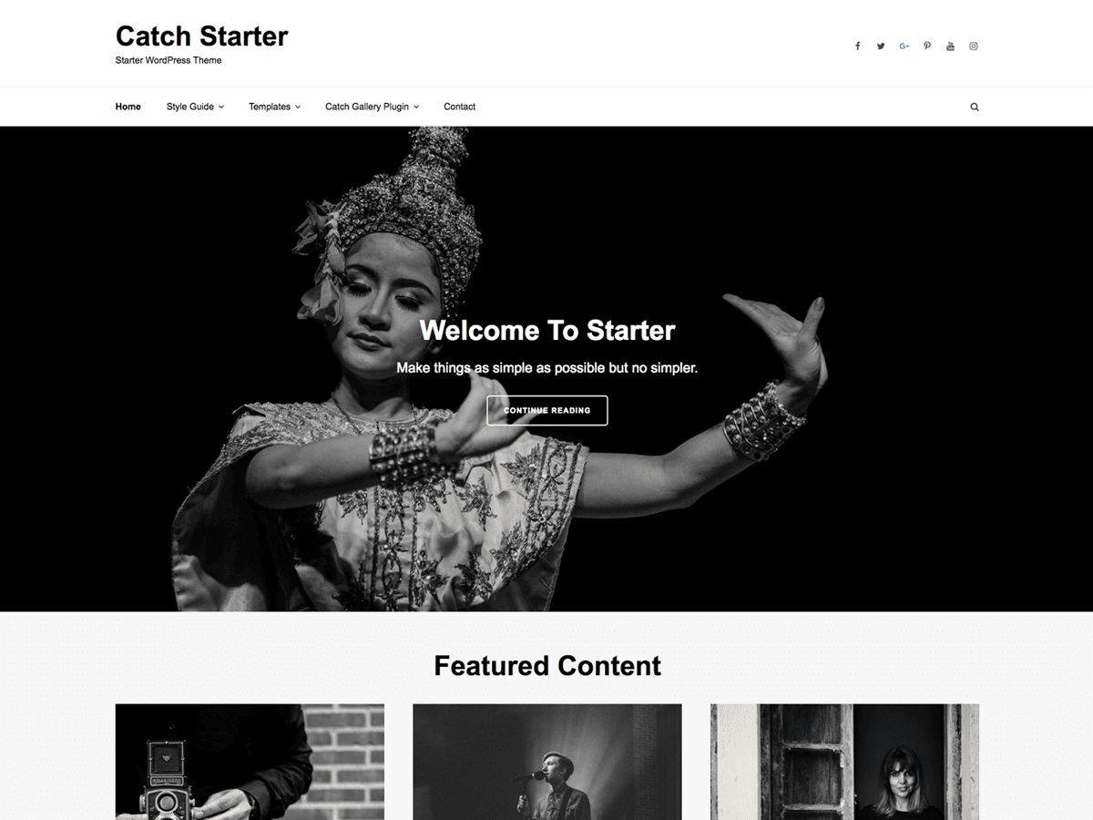Catch Starter Download Free Wordpress Theme 1
