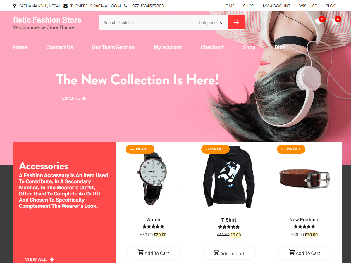 Relic Fashion Store Download Free Wordpress Theme 2