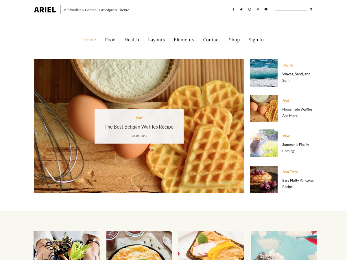 Ariel Download Free Wordpress Theme 3