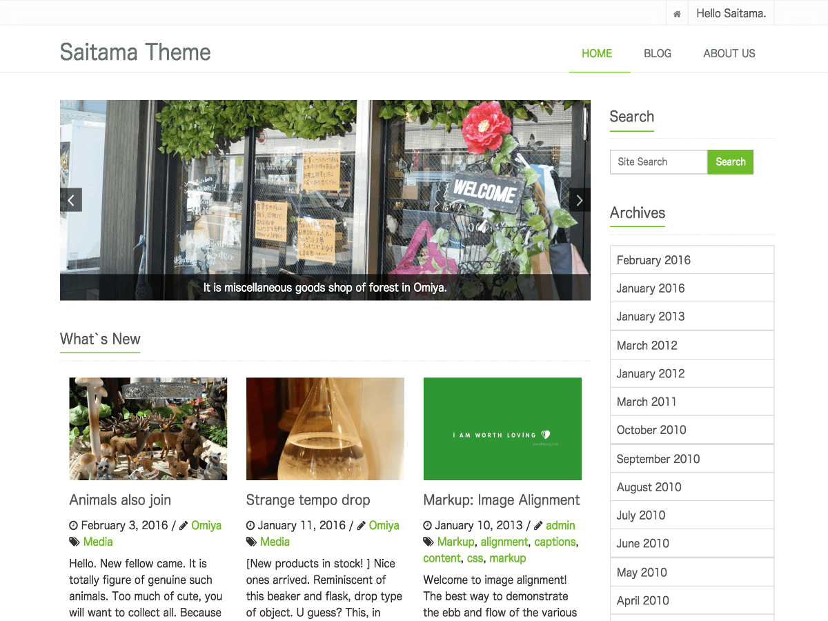 saitama Download Free Wordpress Theme 2
